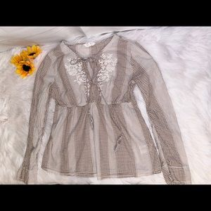 H&M Label of Graded Goods Long Sleeve Blouse Sz 8